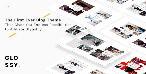 Glossy v1.1.0 - Fashion Blog Theme for Stylish Affiliation