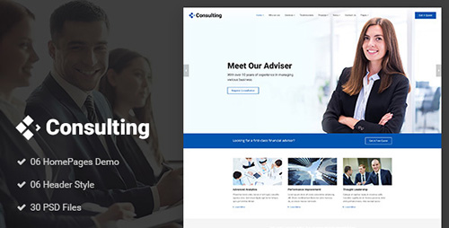 ThemeForest - Consulting v1.0 - Business, Finance, Broker, Advisor & Accounting PSD Template - 20220968
