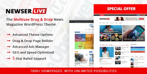Nulled Newser v1.0.5 - The Multiuse Drag and Drop News Magazine
