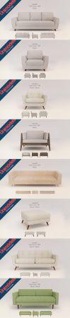 Unimodels Sofas Vol. 1 Scandinavian design for UE4