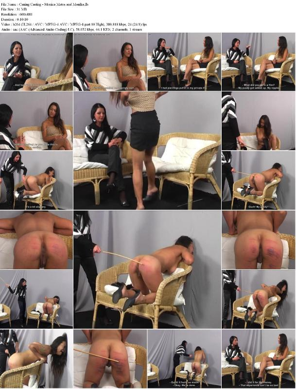 Caning casting monica matos and monika 9