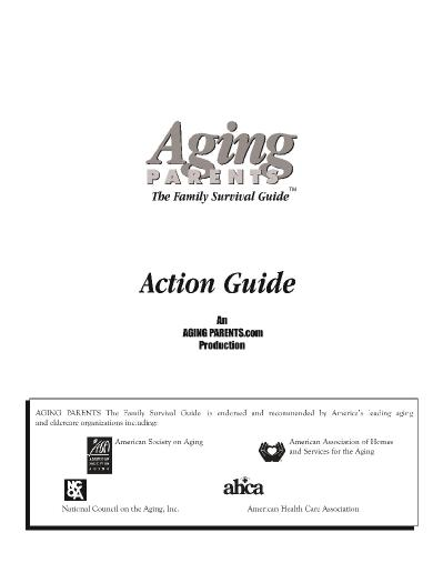 Aging parents the family survival guide