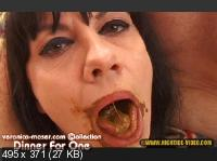 Hightide Scat: (Veronica Moser, 1 male) - VM41 - DINNER FOR ONE [SD] - Humiliation, Milf, Blowjob